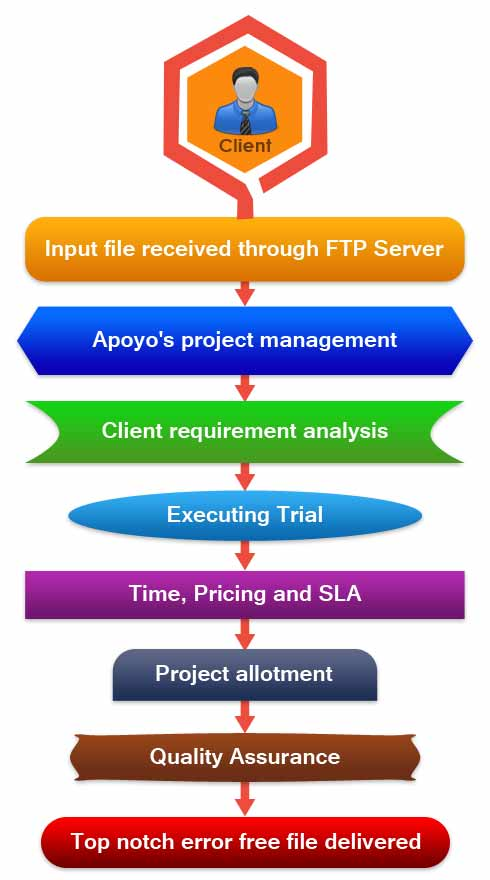 Data Cleansing Services  workflow of Apoyo