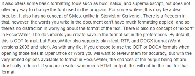 focuswriter reviews